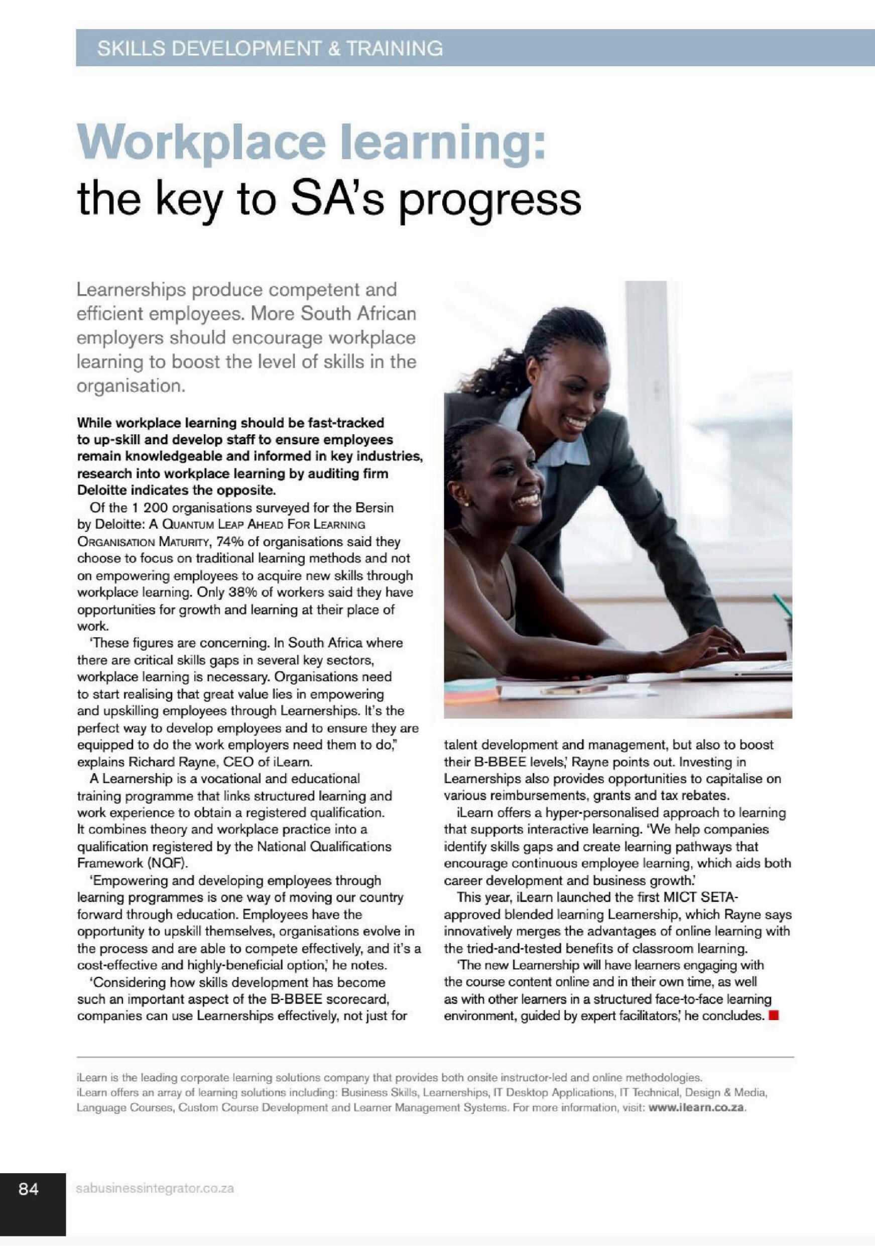06 WORKPLACE LEARNING- THE KEY TO SAS PROGRESS_ilearn3